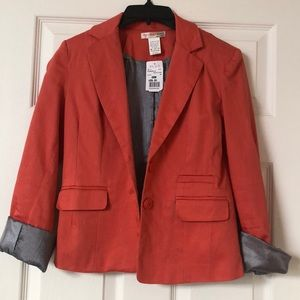 Business casual cute coral blazer